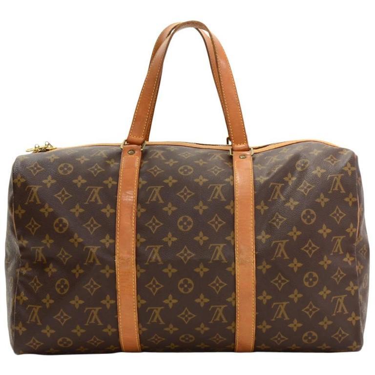 Vintage Louis Vuitton Sac Souple 45 Monogram Canvas Duffle Travel Bag For