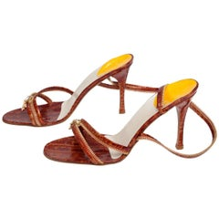 Christian Dior by John Galliano New Leather Zipped Sandals, Spring-Summer 2001