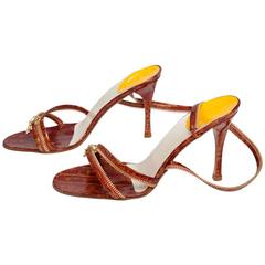 Christian Dior by John Galliano New Leather Zipped Sandals