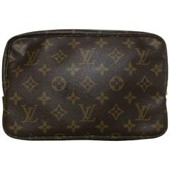 80's Vintage Louis Vuitton classic monogram cosmetic and toilet pouch bag Unisex
