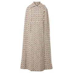 Great Unknown brown tweed cape, circa 1968