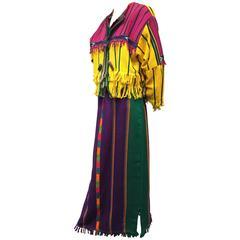 2-Piece Hand-Woven Guatemalan Cotton Dress and Jacket w Cochina Dolls