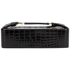 Hermès Rare Black Crocodile Beauty Case