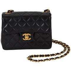 Chanel Black Leather Mini Classic Flap Bag