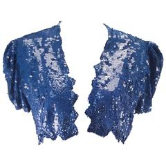 Blue Sequin Bolero, Mid 20th Century