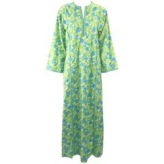 "Lilly Pulitzer ""The Lilly"" Multicolor Floral and Butterfly Kaftan, Early 1970s"