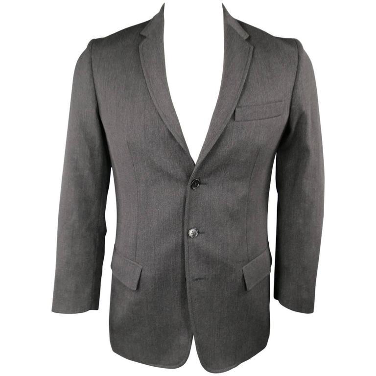 Maison Martin Margiela Men's Sport Coat Charcoal Wool Jacket, 40 Regular