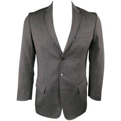 Maison Martin Margiela Men's Sport Coat Charcoal Wool Jacket, 40 Regular