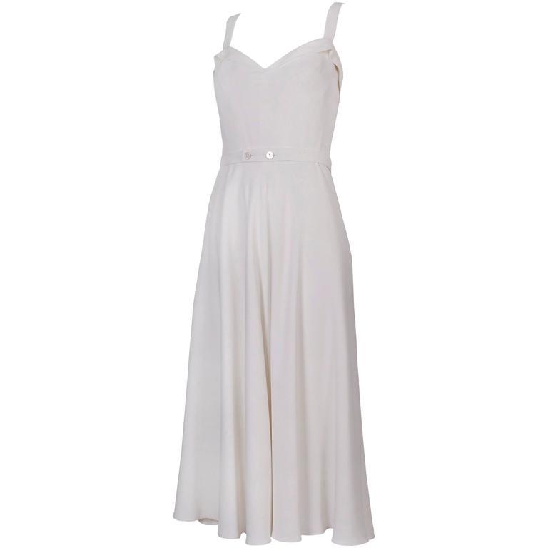 Ralph Lauren Purple Label White Summer Dress 1