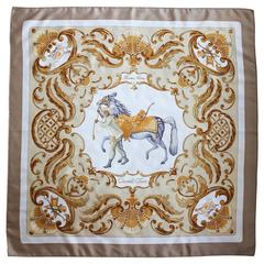 Silk Scarf by Hermes, Paris , Cheval Turc