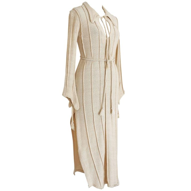 Alexander Campbell knitted caftan, c. 1990s 1