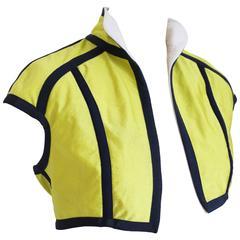 John Galliano tennis ball cropped bolero jacket, AW 1990