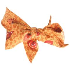 Hermes Orange Sea Shell Scarf Twilly