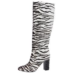 Lanvin Zebra Print Boots With Embellished Heels,  Pre - Fall 2010