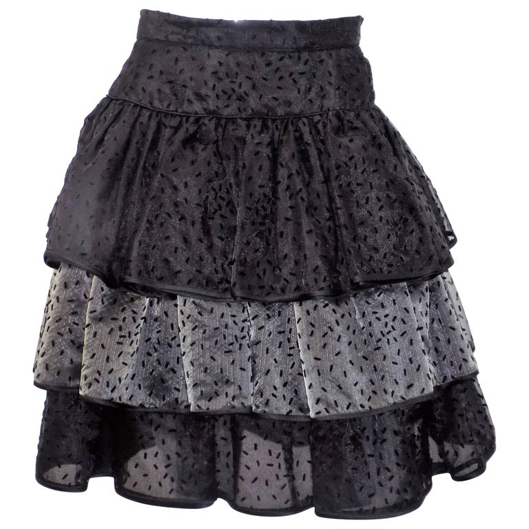 Valentino vintage ruffled evening skirt