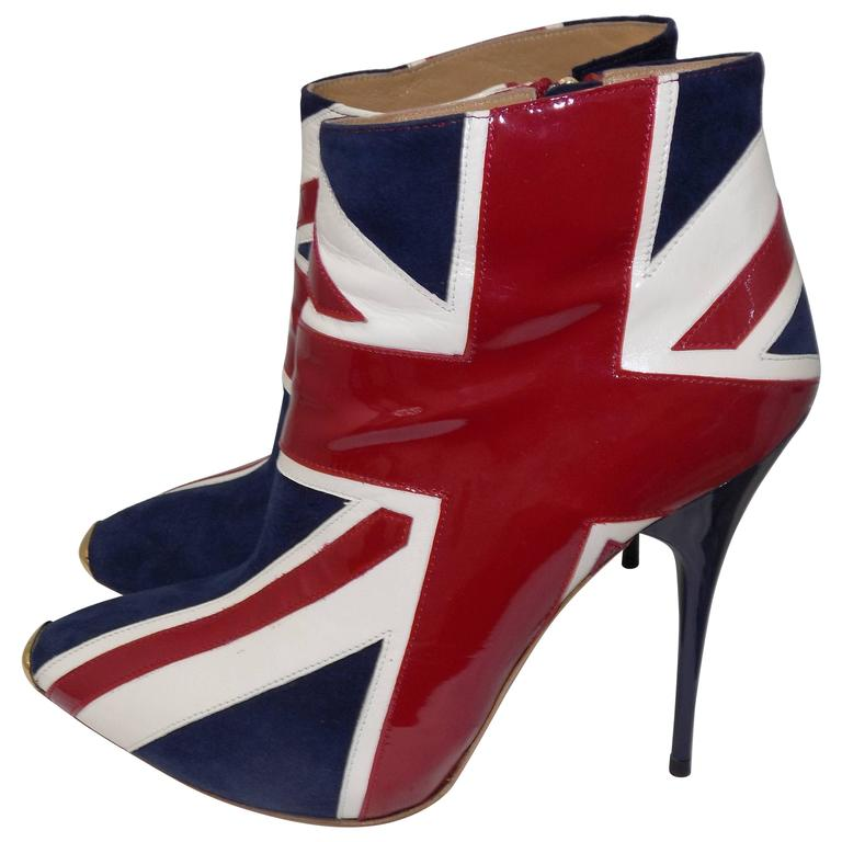 ALEXANDER MCQUEEN Union Jack ankle boots For Sale