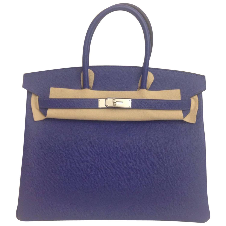 best replica birkin hermes bag - Hermes Birkin 35 Electric Blue Epsom PHW For Sale at 1stdibs