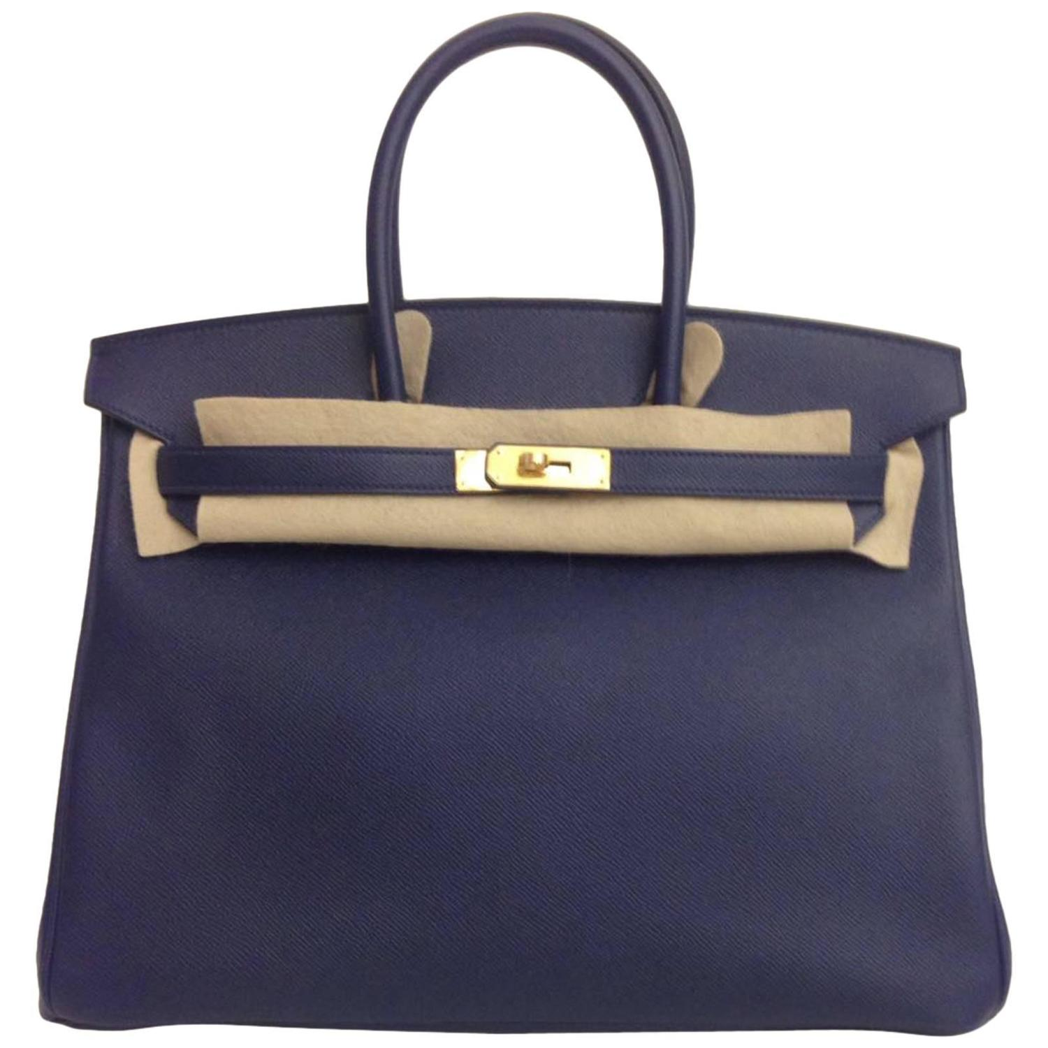 how much does a hermes birkin bag cost - hermes new navy bleu saphir clemence leather 35cm kelly bag phw ...