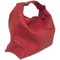 Bottega Veneta Rapturous Red Intrecciato Weave Large Hobo