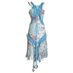 CHRISTIAN DIOR by JOHN GALLIANO dress iconic floral  fits 4 to 6