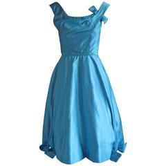 Stunning 1950s Ceil Chapman Pale Blue Cocktail Dress