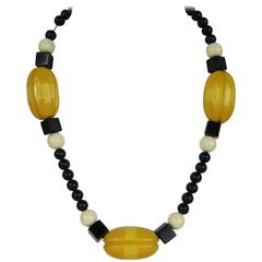 Vintage Alexis Kirk Bakelite Beaded Necklace