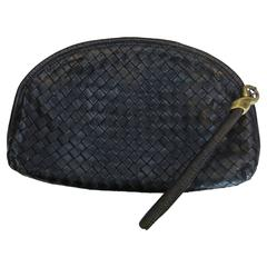 Bottega Veneta Black Clutch Purse