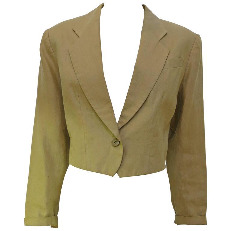 Kenzo Camel Linen Blazer Size 10, 1990s