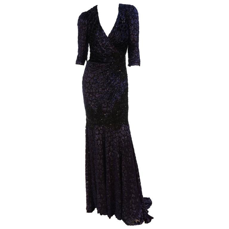 Andrew Gn leopard velvet dress