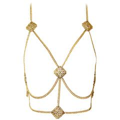 60s Body Chain/ Medieval Revival Halter