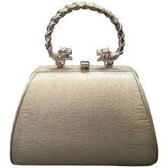 Gorgeous Lame Miniature Evening Bag. Early 1960's