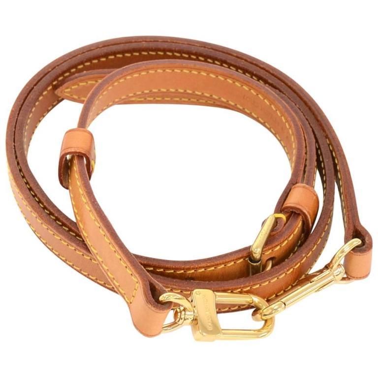 Louis Vuitton Brown Cowhide Leather Adjule Shoulder Strap For Medium Bags