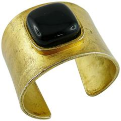 Claude Montana Vintage 1980s Asymetrical Space Age Cuff Bracelet