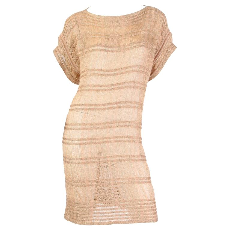 Missoni Gold Sparkle Knit Dress