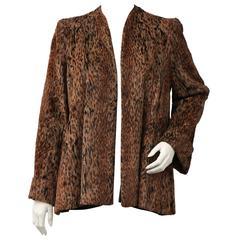 Biba leopard velvet jacket