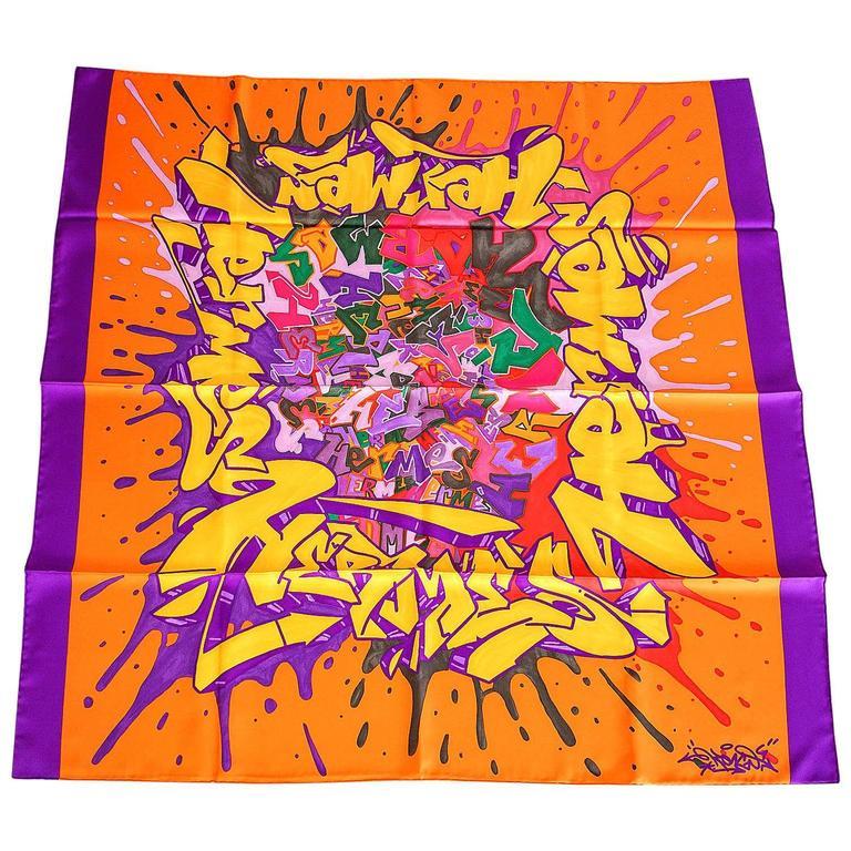 "Hermes Silk Scarf ""Graff Hermes"" Signed Kongo New"