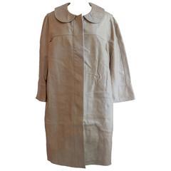 Chloe Lambskin Long Leather Coat