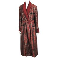 "Vintage "" The Picture of Dorian Gray""  1945 American Horror Film Smoking Jacket"