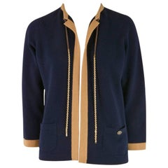 NEW Chanel Cashmere Sweater - Navy and Gold - Size 40
