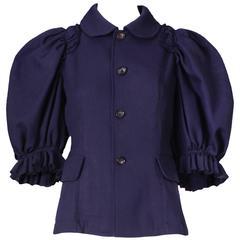 2007 Comme des Garcons Navy Blue Jacket Top