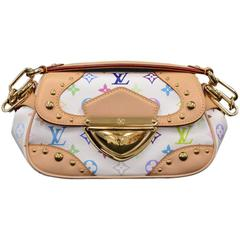 Louis Vuitton Marilyn White Multicolor Monogram Canvas Hand Bag