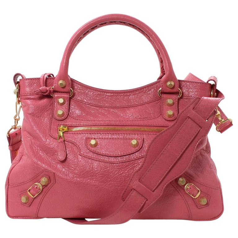 balenciaga pink lambskin arena giant 12 town bag for sale at 1stdibs. Black Bedroom Furniture Sets. Home Design Ideas