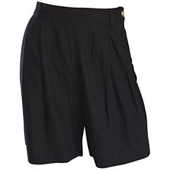 Important Tom Ford for Gucci Black Vintage High Waisted 1990s 90s Shorts