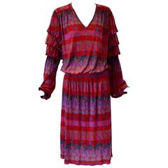 Vibrant Missoni Silk Jersey Dress