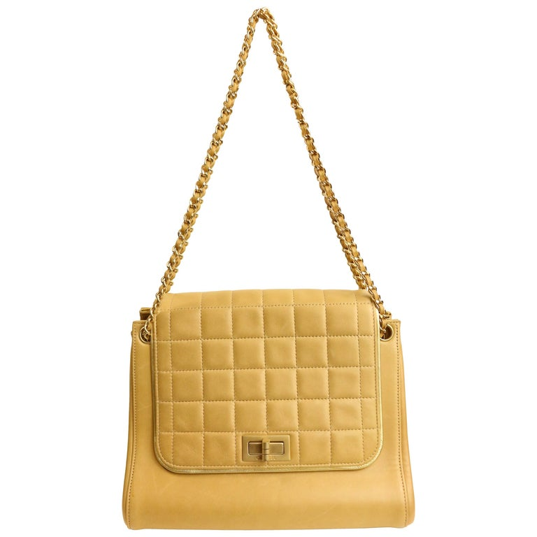 Chanel Camel Leather Flap Bag For Sale