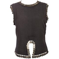 Alexander McQueen Eye Collection Sleeveless Top Embellished Coins, Spring 2000