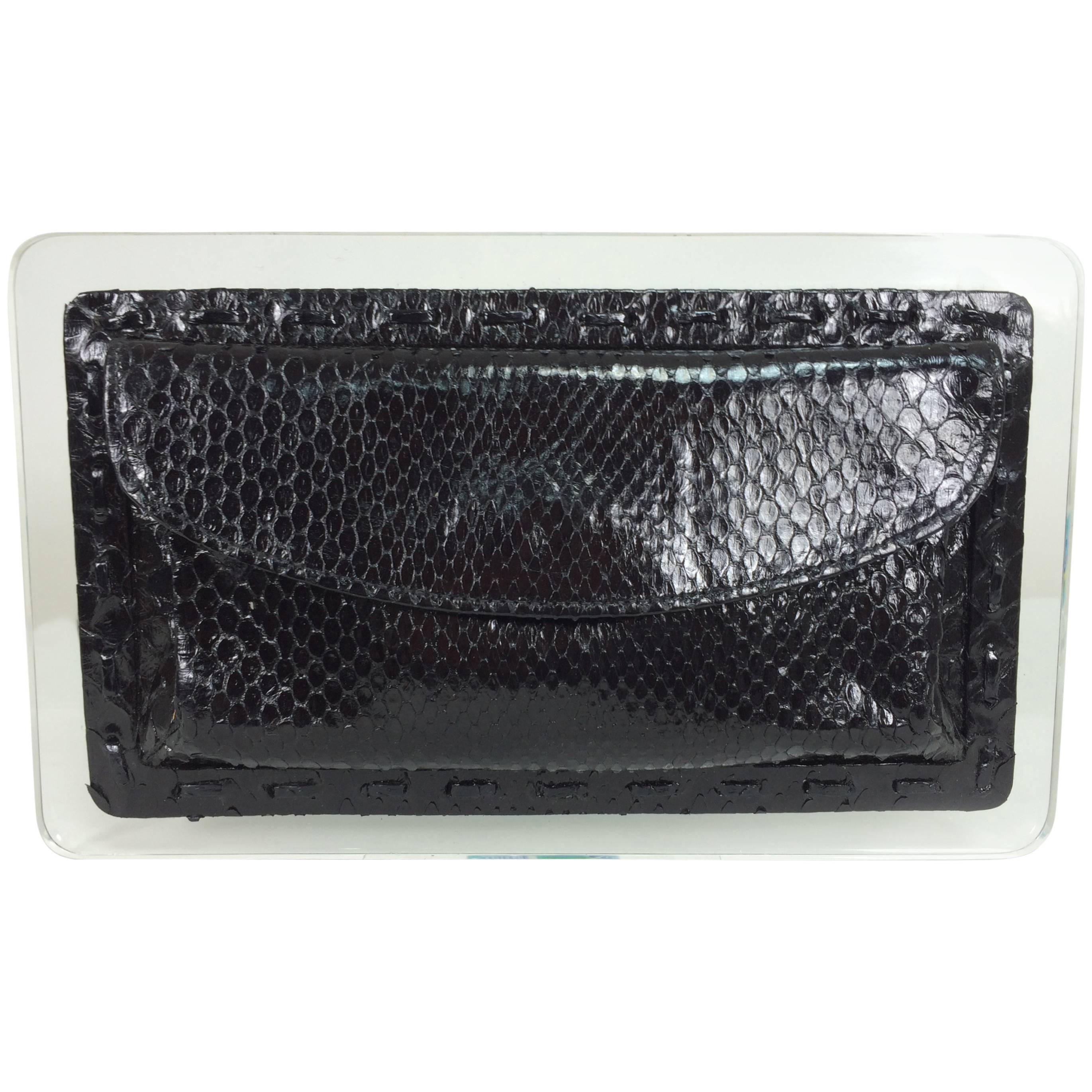 3db2171f4c45 Salvatore Ferragamo black suede gold hardware clutch shoulder bag For Sale  at 1stdibs