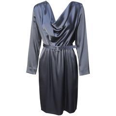 St. John Elegant Pewter Grey Dress