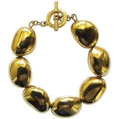 Ralph Lauren Gold-Tone Pebble Braclet
