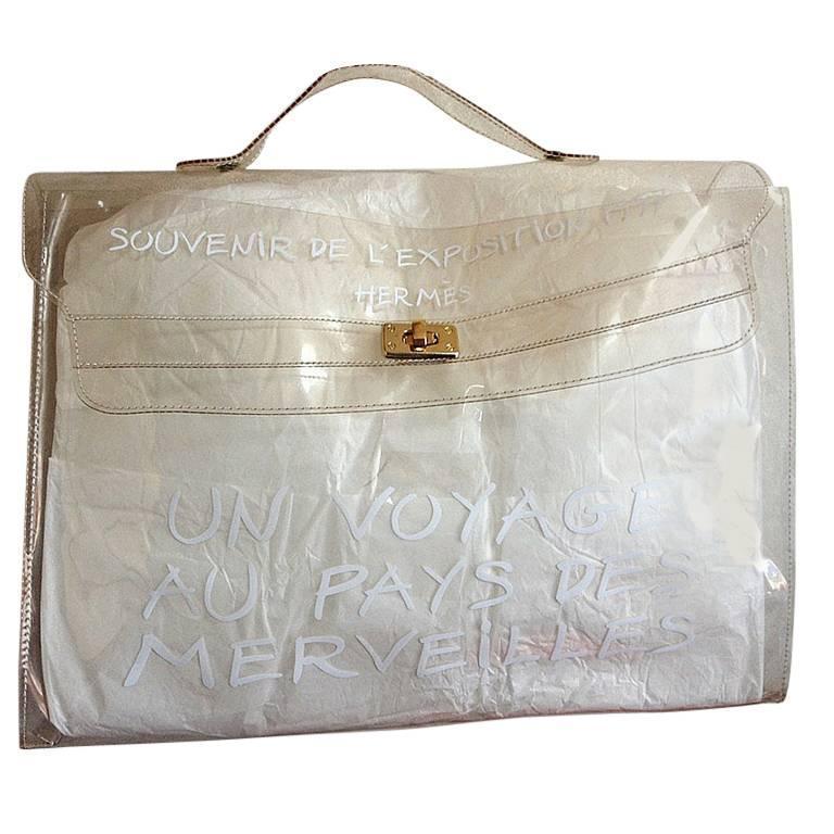 birkin knockof fhermes - Vintage Hermes a rare transparent clear vinyl Kelly bag, Japan ...